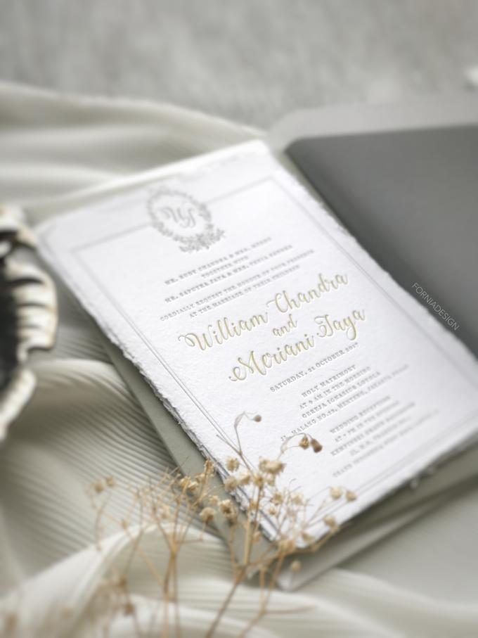 William & Meriani's letterpress wedding invitation  by Fornia Design Invitation - 005
