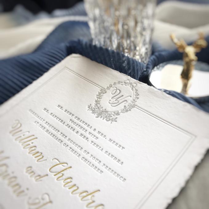 William & Meriani's letterpress wedding invitation  by Fornia Design Invitation - 006