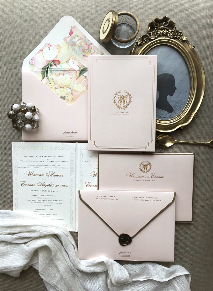 Wirawan & Evania\'s Classic wedding invitation by Fornia Design ...