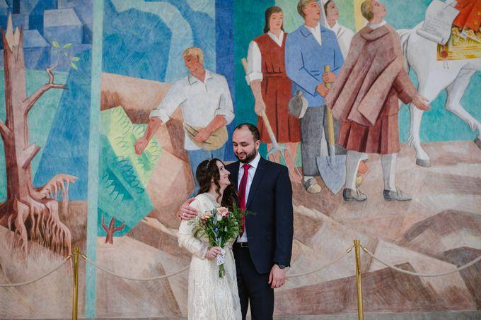 Frederiksberg Town Hall Wedding / Elopement by Ieva Vi Photo by Ieva Vi Photography - 007