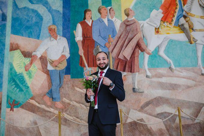 Frederiksberg Town Hall Wedding / Elopement by Ieva Vi Photo by Ieva Vi Photography - 008