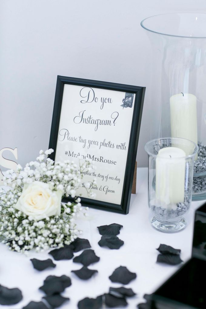 Beautiful Black and White wedding by Samie Lee photography - 011