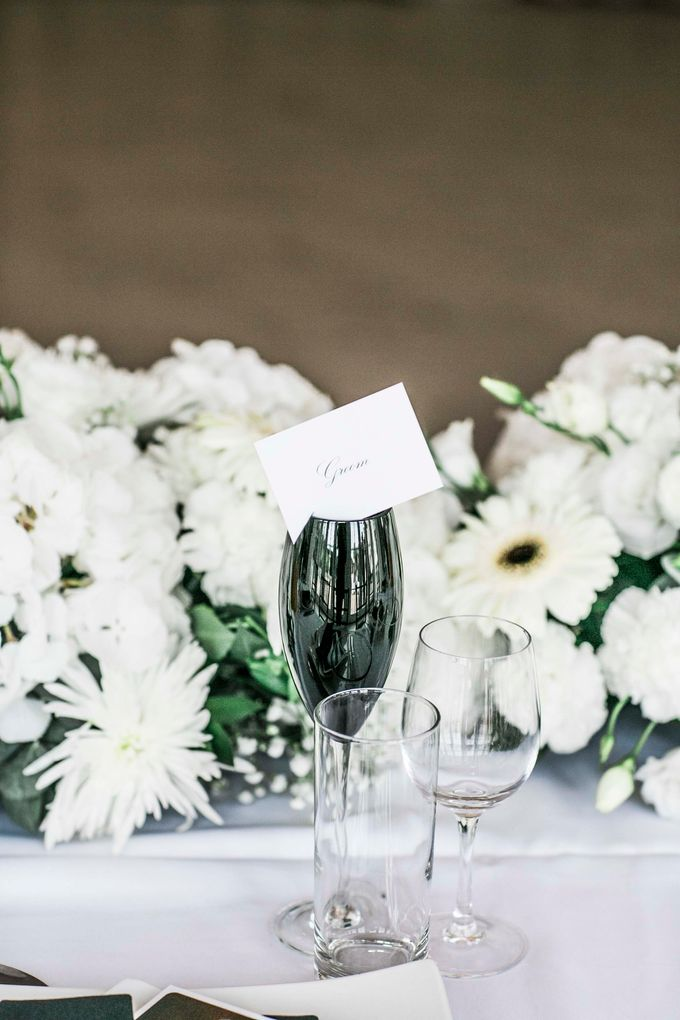 Beautiful Black and White wedding by Samie Lee photography - 041