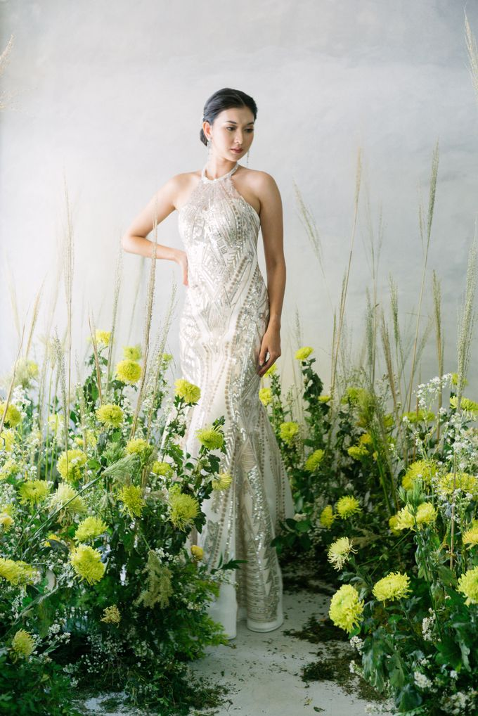 silver bronze mermaid with halter neck by iLook ( Makeup & Couture ) - 001