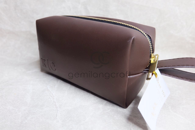 Premium boxy pouch Kevin & Clarissa by Gemilang Craft - 001