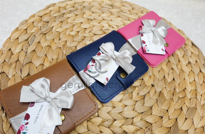 Premium b wallet with ribbon for Miftha & Hafiz by Gemilang Craft - 001