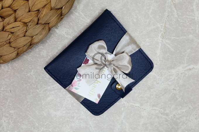 Premium b wallet with ribbon for Miftha & Hafiz by Gemilang Craft - 003