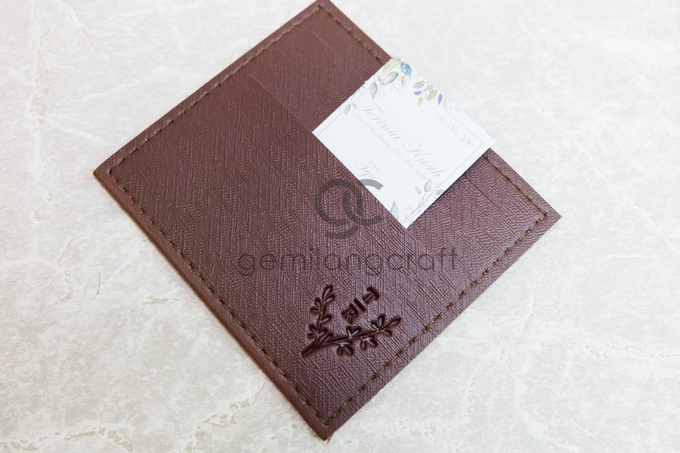Premium card wallet for Tya and Adit by Gemilang Craft - 002
