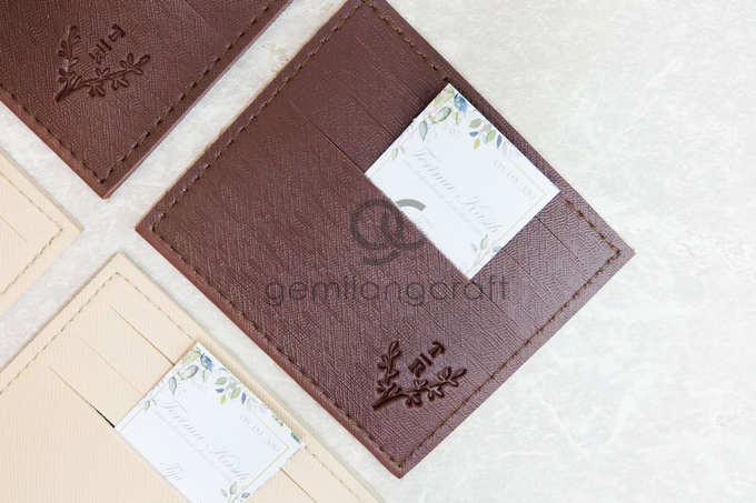 Premium card wallet for Tya and Adit by Gemilang Craft - 001