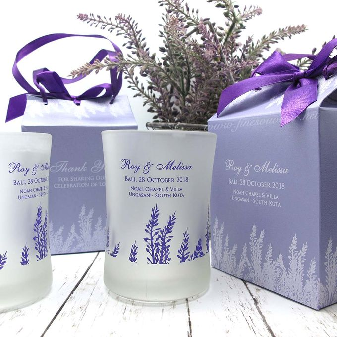 Frosted Glass Include Personalised Paperbag by Fine Souvenir - 003