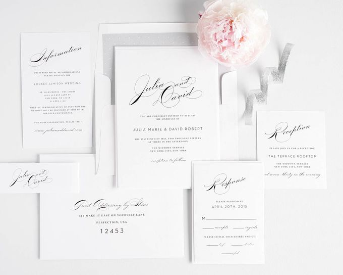 Vintage Glam Wedding Invitations by Shine Wedding Invitations - 002
