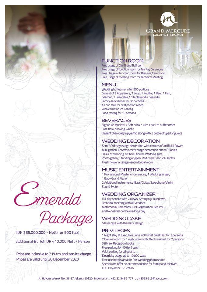 Wedding Package 2019 by GRAND MERCURE Jakarta Harmoni - 006