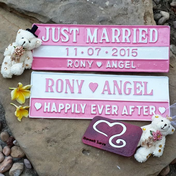Wedding Car Plate by Sweetlovecollection - 048