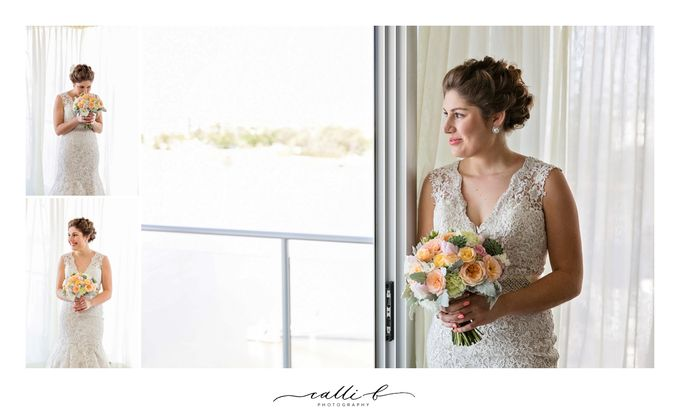 An Ebb wedding with mint and peach by Ginger Lily & Rose Floral Studio - 005