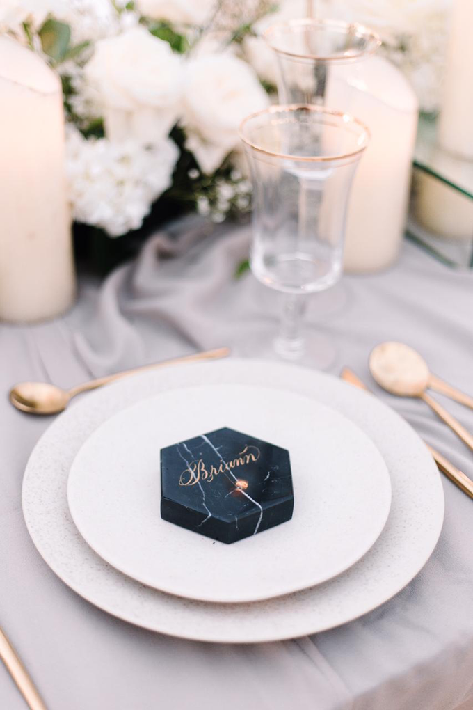 Lettering on marble coaster by Grace and Truly Calligraphy - 002