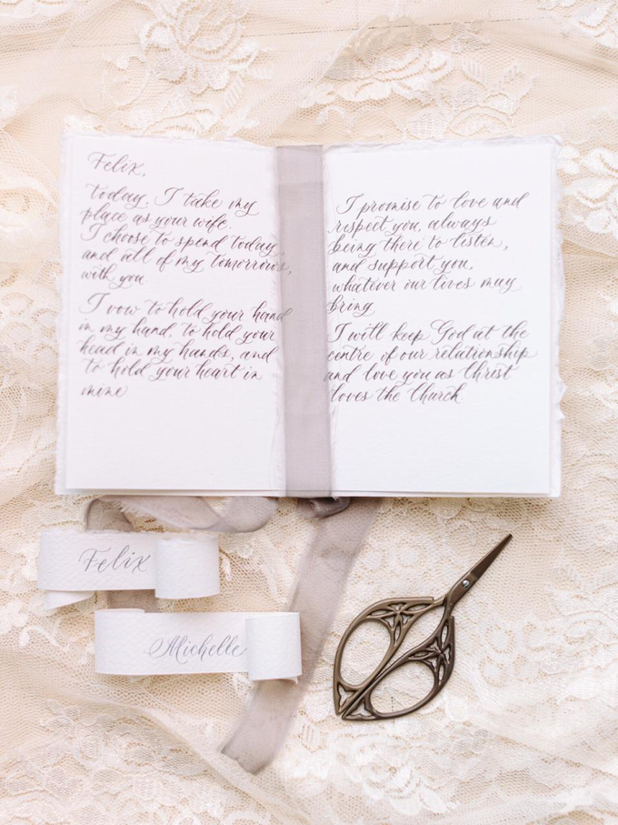 Felix & Michelle Wedding Day by Grace and Truly Calligraphy - 005