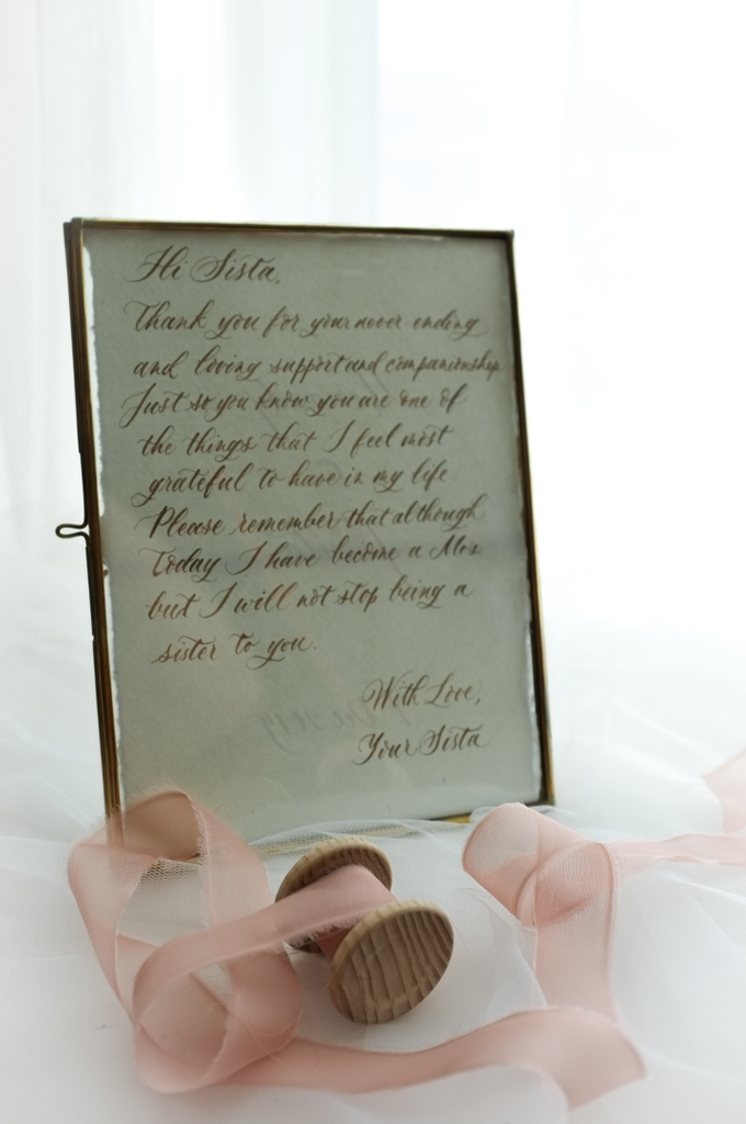 Custom bridesmaid message in brass frame by Grace and Truly Calligraphy - 002