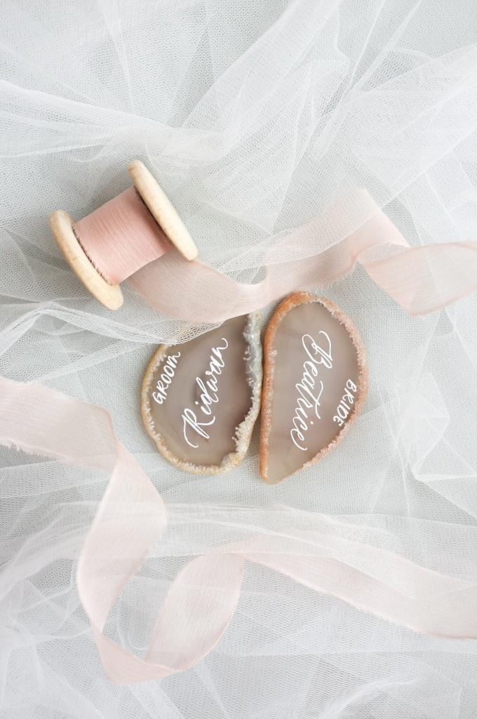 Agate & CrystalAgate Lettering for Wedding Styling by Grace and Truly Calligraphy - 002