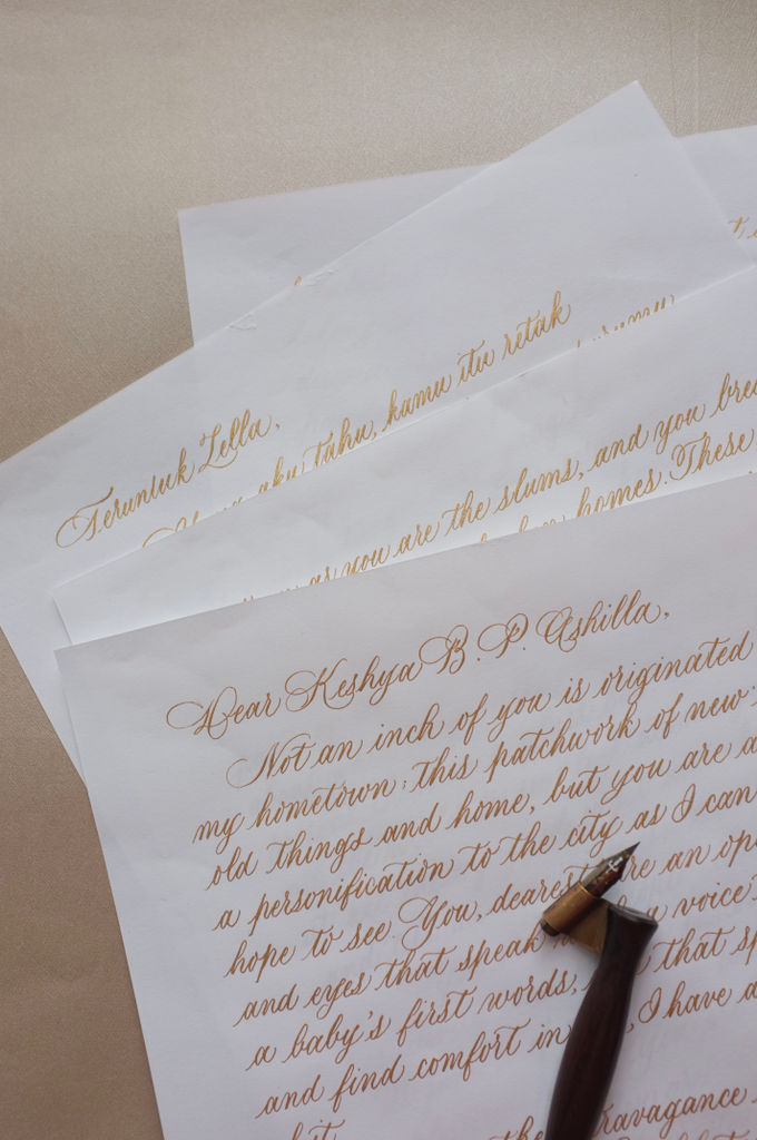 Love letter - Anniversary letter - Custom letter by Grace and Truly Calligraphy - 001