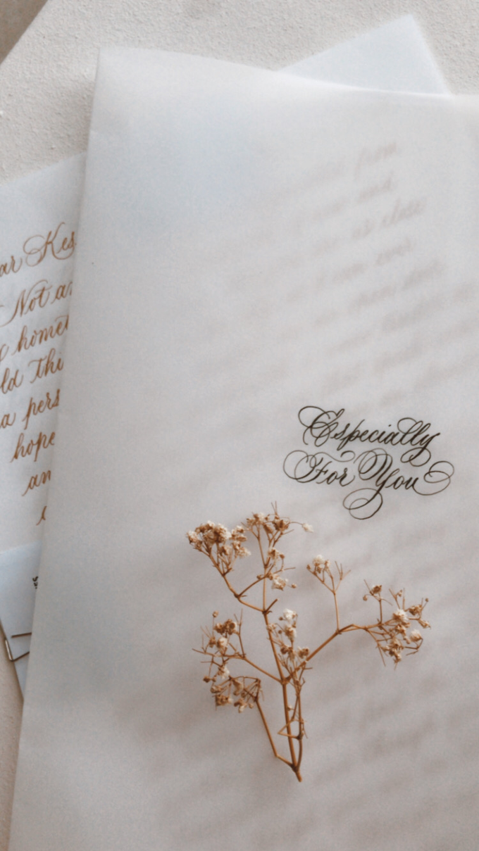 Love letter - Anniversary letter - Custom letter by Grace and Truly Calligraphy - 002