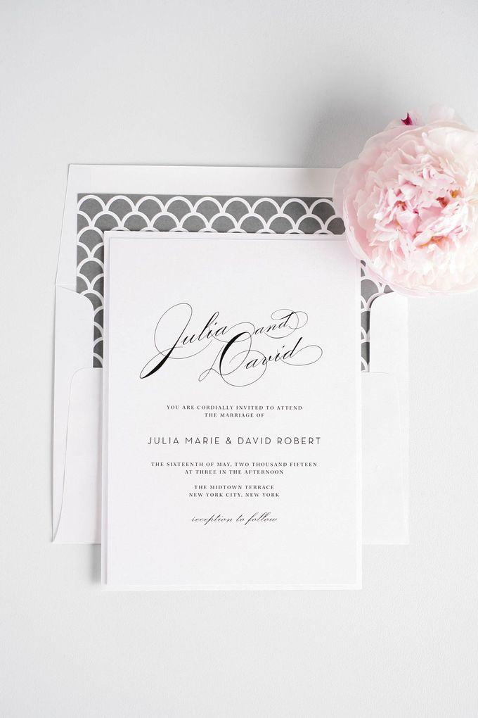 Vintage Glam Wedding Invitations by Shine Wedding Invitations - 001