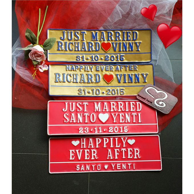 Wedding Car Plate by Sweetlovecollection - 018
