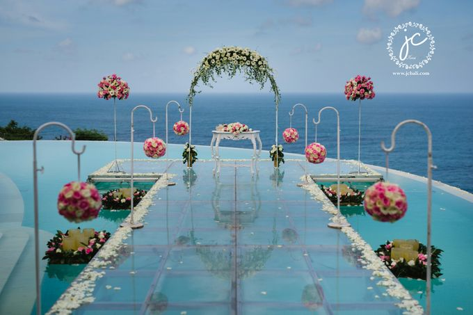 our chapel and water wedding decor by Jc Florist Bali - 028