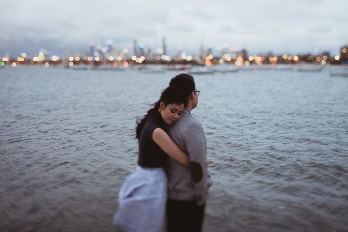 Tender Couple Session in Melbourne City by fire, wood & earth - 021