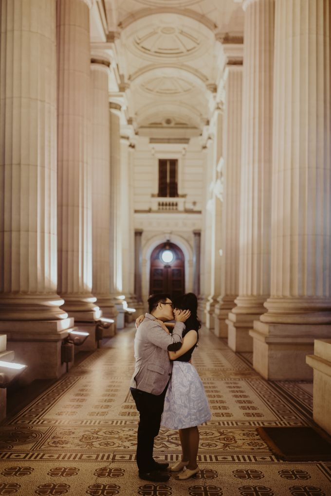 Tender Couple Session in Melbourne City by fire, wood & earth - 024