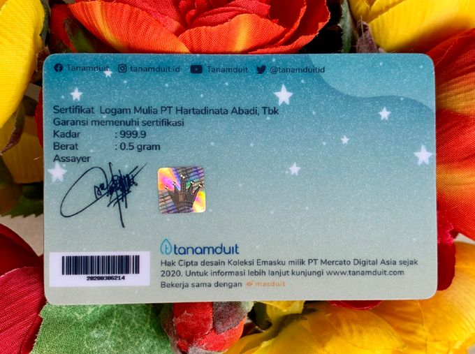 Emas Logam Mulia Hartadinata - Happy Wedding 2 by tanamduit emas - 004