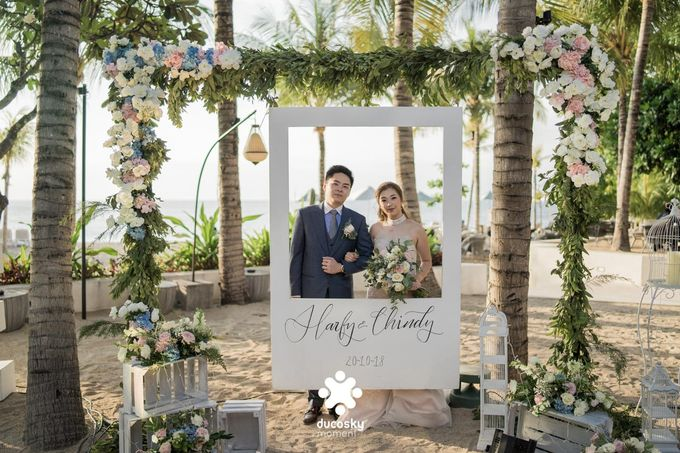 Harfy Chindy Wedding | Beach Wedding by Wong Hang Distinguished Tailor - 001