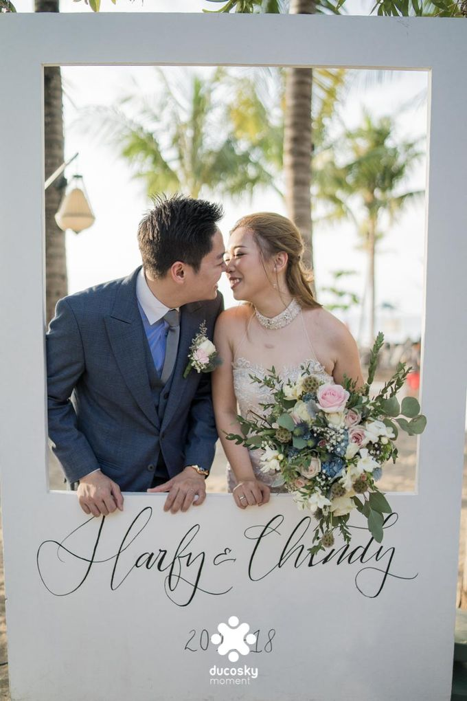 Harfy Chindy Wedding | Beach Wedding by Wong Hang Distinguished Tailor - 003