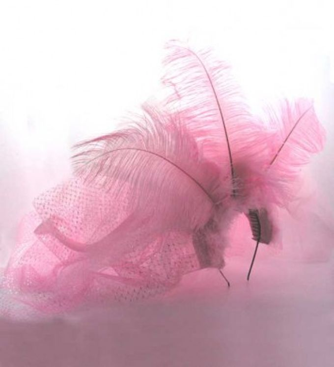 pink feather bachelorette headpiece by Woohoo Party Supplies - 002