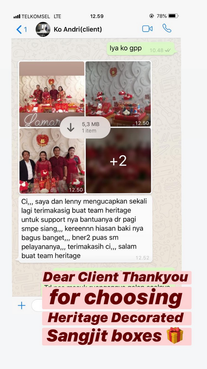 Dear Clients, Thank You by Heritage Sangjit - 013