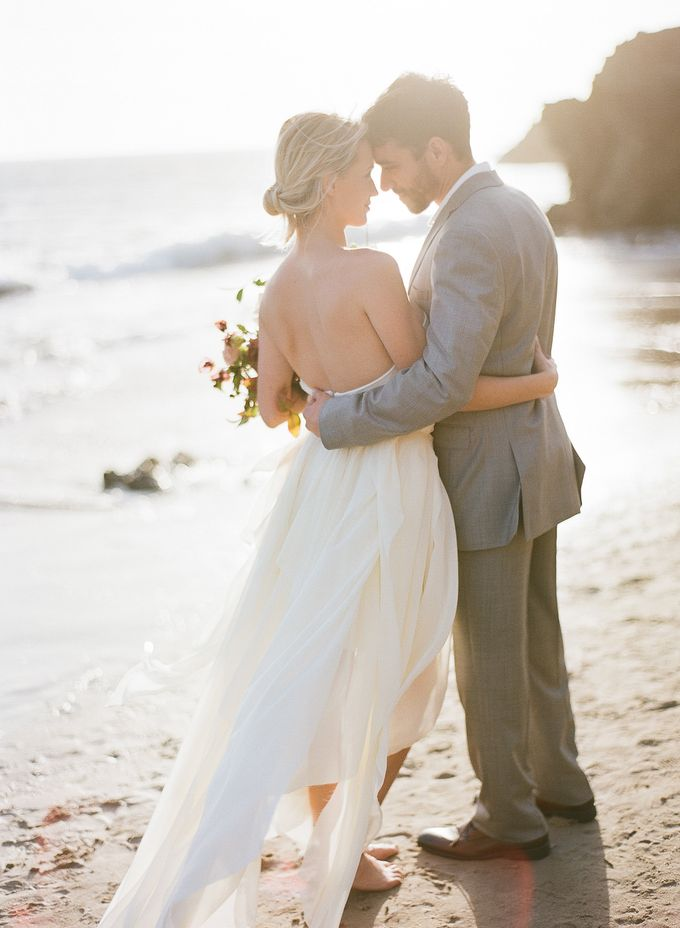 Sunset Elopement Inspiration on Malibu Coast by Honour and Blessing Events - 008