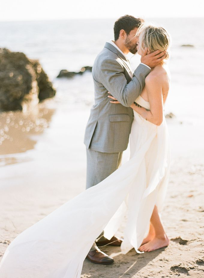 Sunset Elopement Inspiration on Malibu Coast by Honour and Blessing Events - 011