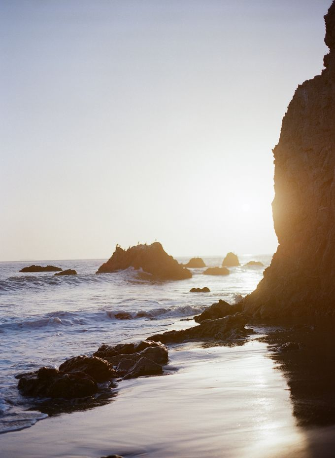 Sunset Elopement Inspiration on Malibu Coast by Honour and Blessing Events - 014
