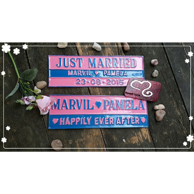 Wedding Car Plate by Sweetlovecollection - 041