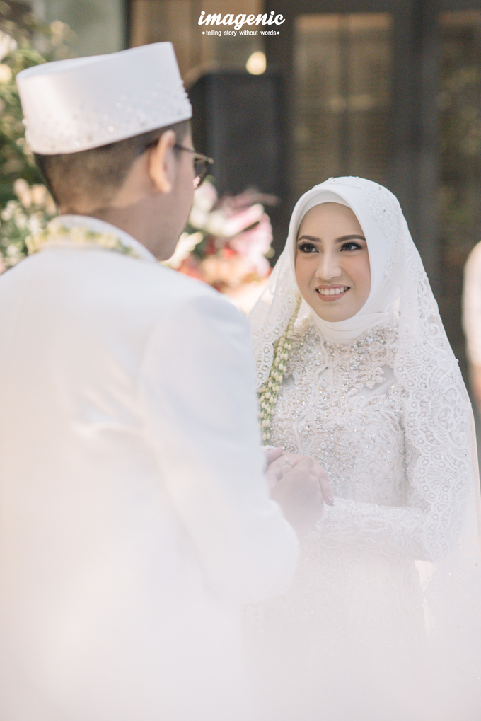 Akad Nikah New Normal Alya&fikri at the courtyard  by Nicca - 021