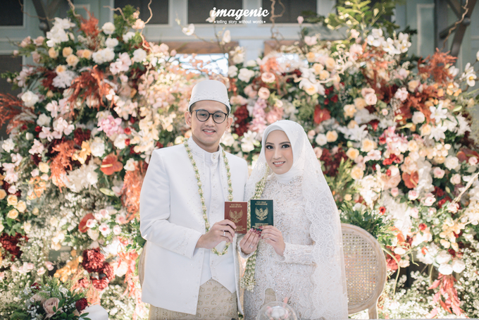 Akad Nikah New Normal Alya&fikri at the courtyard  by Nicca - 024