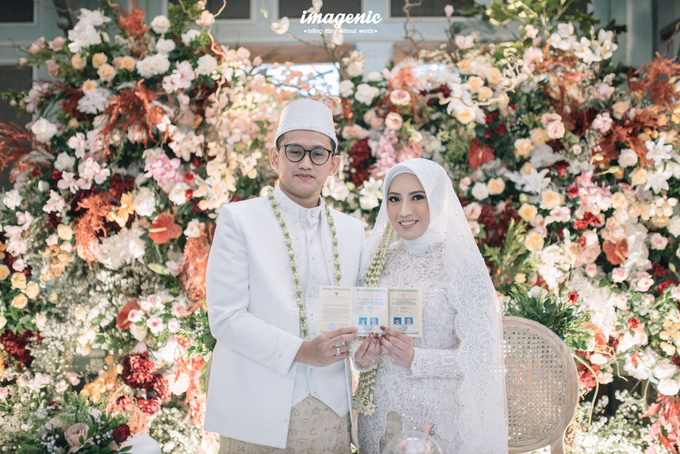 Akad Nikah New Normal Alya&fikri at the courtyard  by Nicca - 025