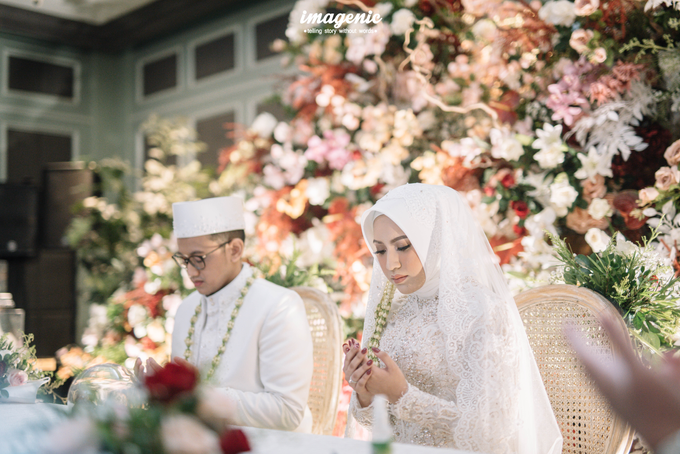 Akad Nikah New Normal Alya&fikri at the courtyard  by Nicca - 028