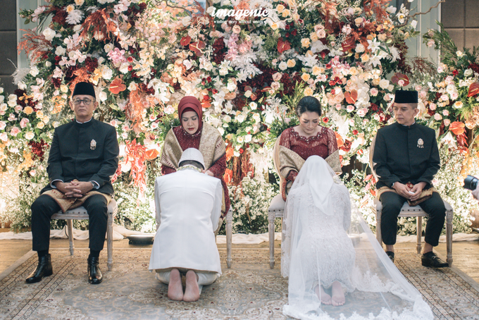 Akad Nikah New Normal Alya&fikri at the courtyard  by HR Team Wedding Group - 030