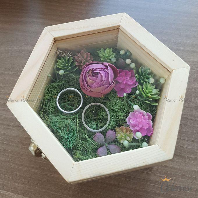 Hexa Box - Natural   Wedding Ring Bearer Box Indonesia - Celemor by Celemor - 009