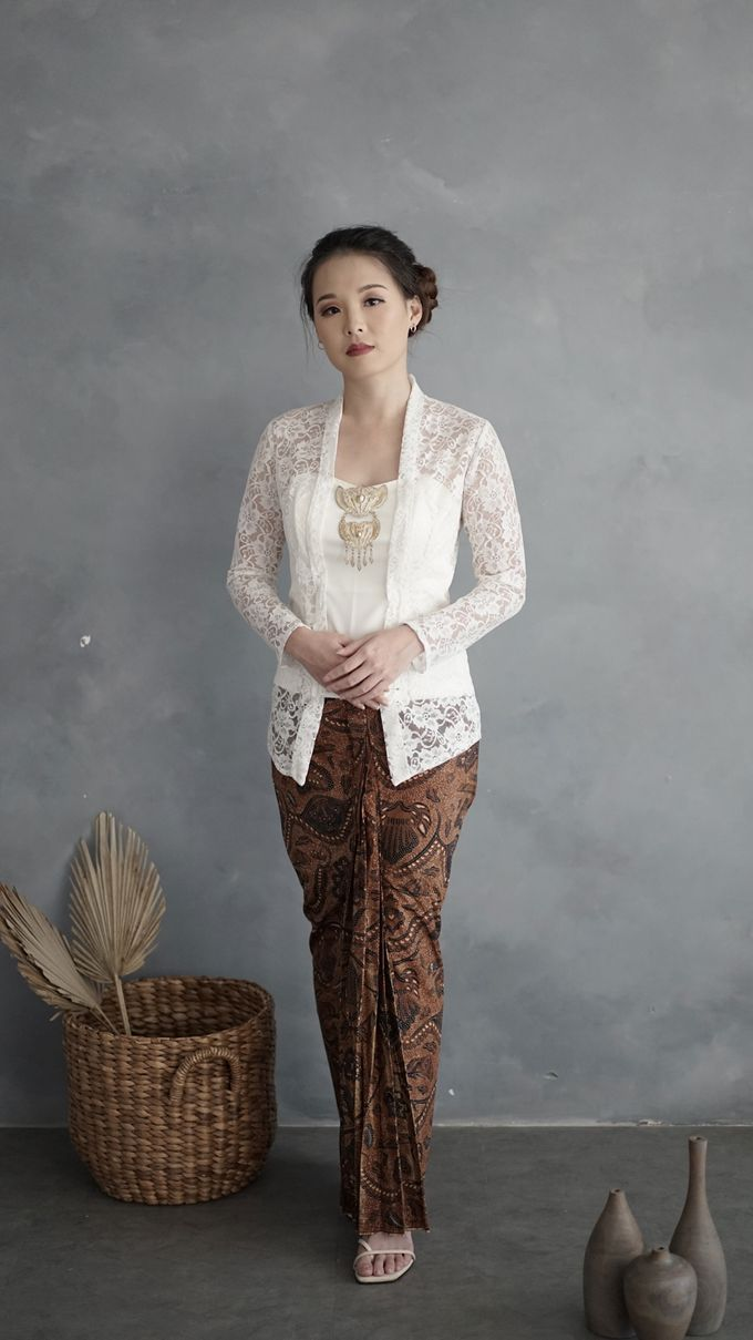 Kebaya (Top and Skirt) for Wedding or Formal Event by Le Clemmie by Amelia - 007