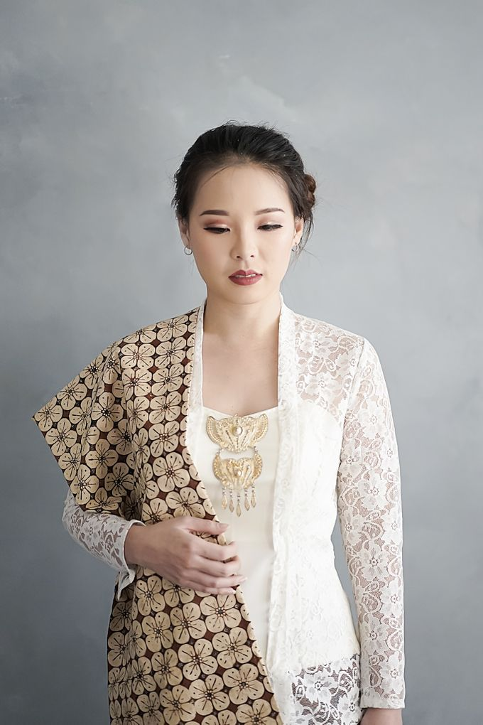 Kebaya (Top and Skirt) for Wedding or Formal Event by Le Clemmie by Amelia - 001
