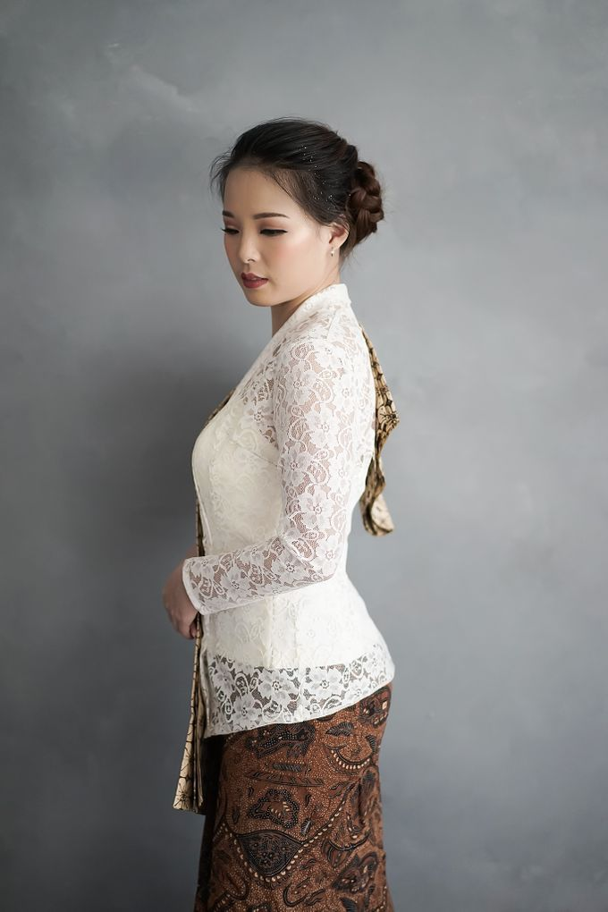 Kebaya (Top and Skirt) for Wedding or Formal Event by Le Clemmie by Amelia - 005