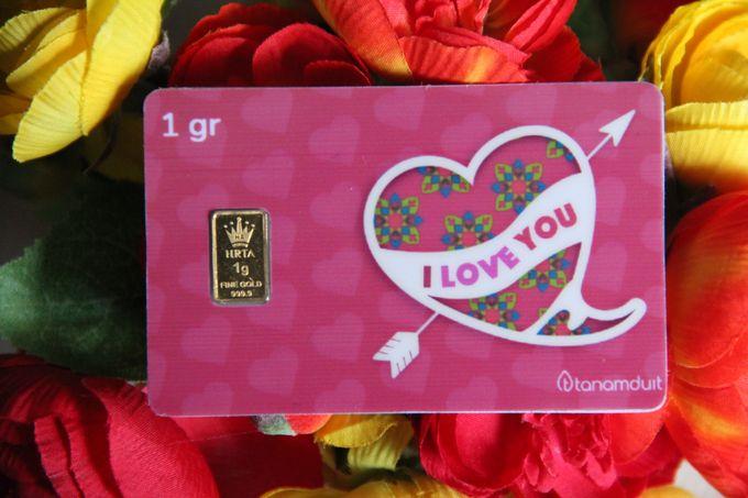 Emas Logam Mulia HRTA - I Love You 2 by tanamduit emas - 001