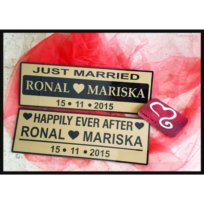 Wedding Car Plate by Sweetlovecollection - 023