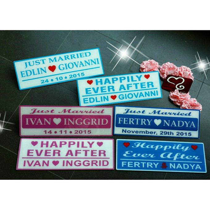 Wedding Car Plate by Sweetlovecollection - 017